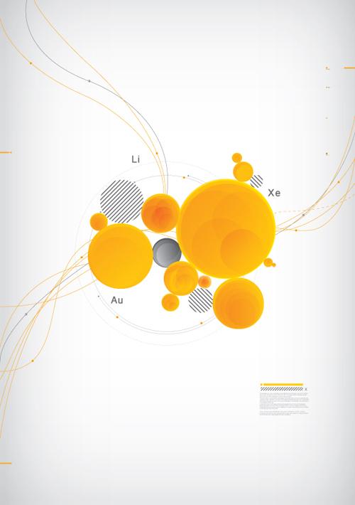 圆形元素创意海报设计