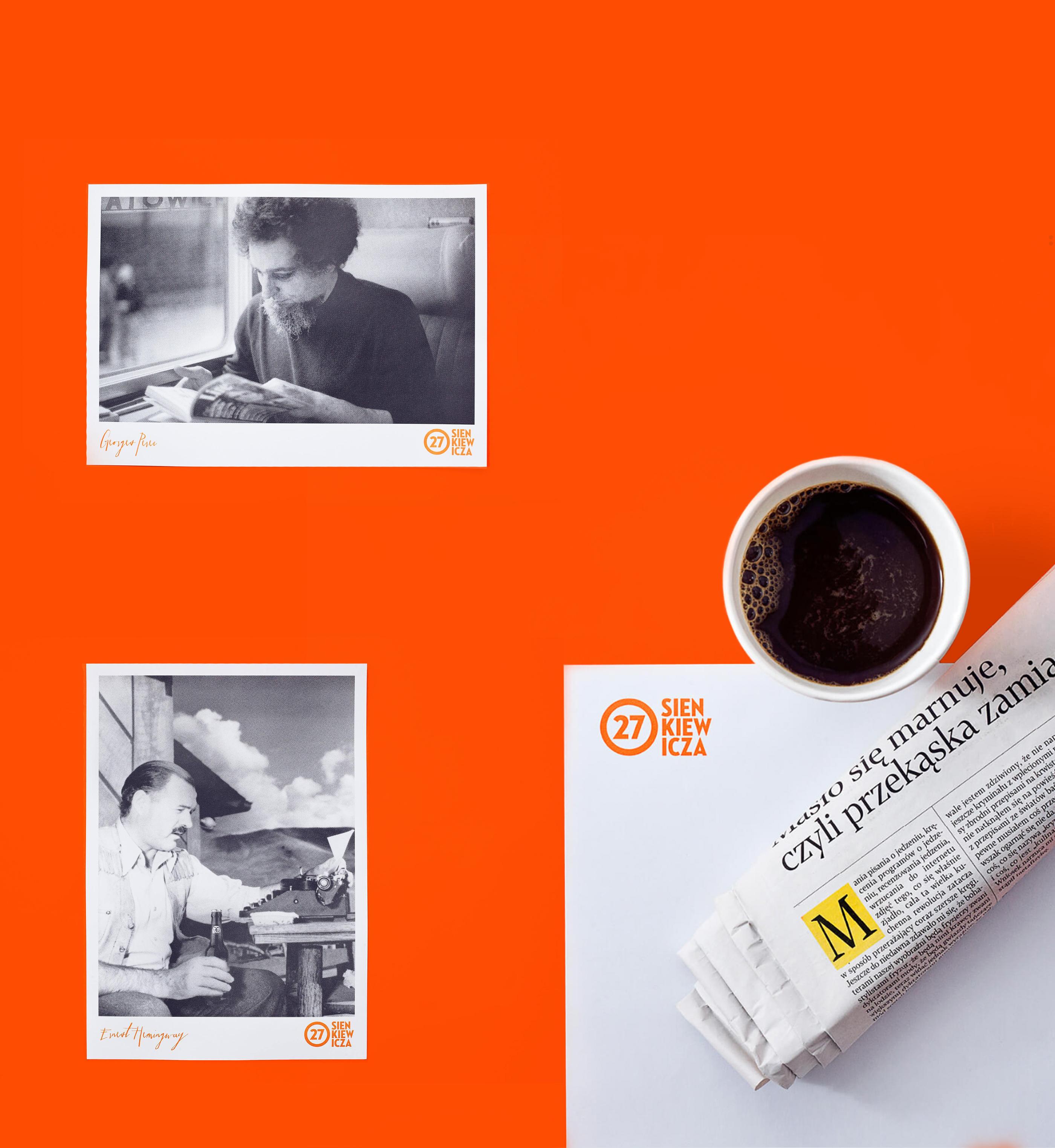 波兰Sienkiewicza 27文学俱乐部品牌VI设计