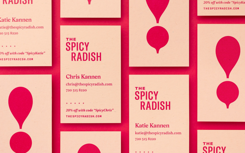 餐饮外卖服务公司Spicy Radish的新标志