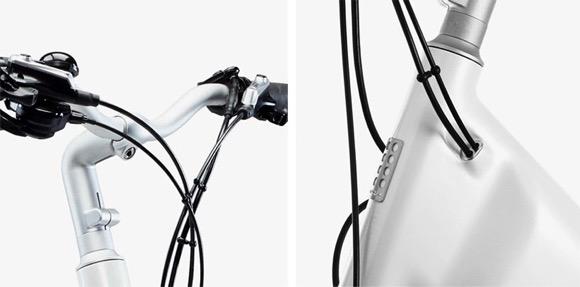 简洁斯堪的纳维亚风轻型电动自行车