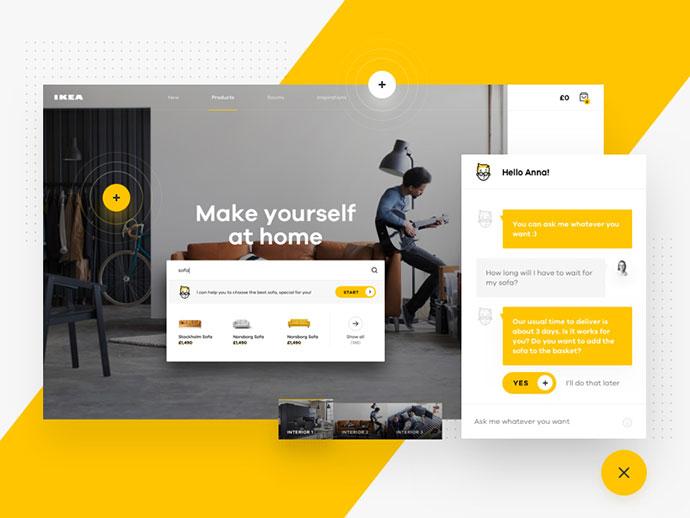 50个创新家具网页UI概念皇冠新2网
