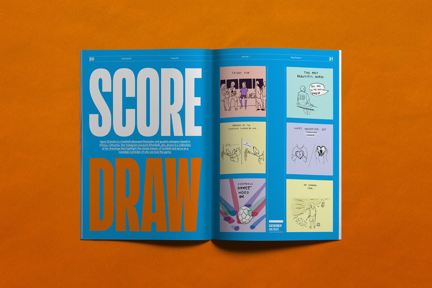 足球杂志Top Corner版面设计欣赏
