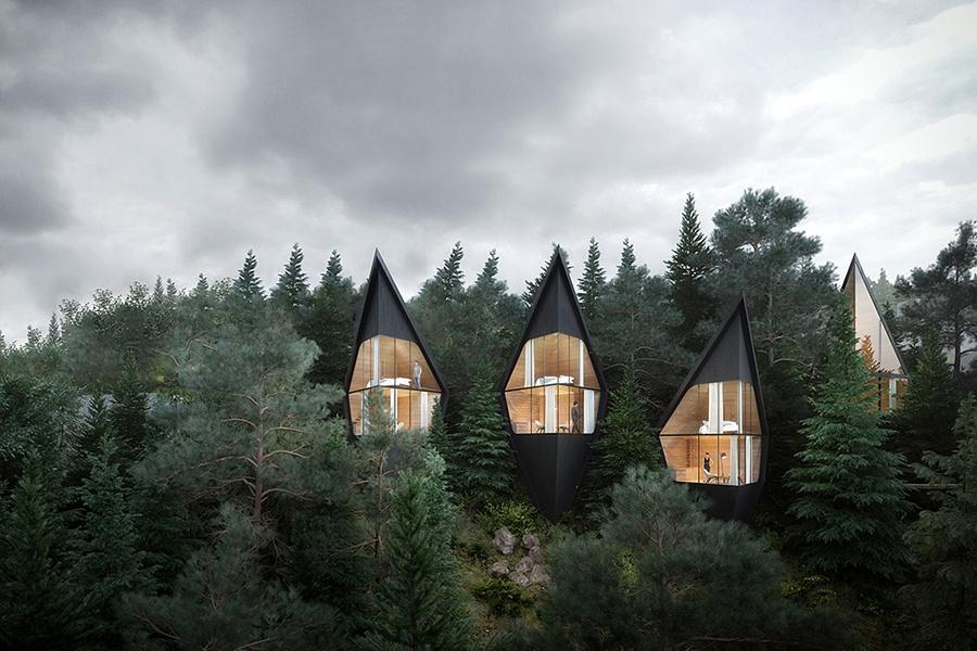 让生活慢下来!意大利森林树屋酒店