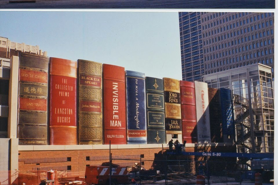 独特的书架外观:堪萨斯城市公共图书馆