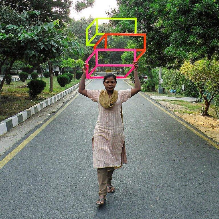 艺术家Aakash Nihalani视觉错觉的街头艺术作品