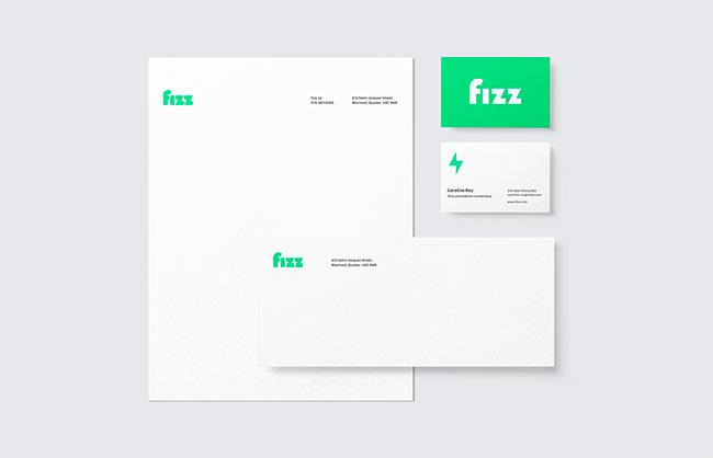 大胆的色彩 跳跃的图形:在线电信提供商Fizz品牌设计