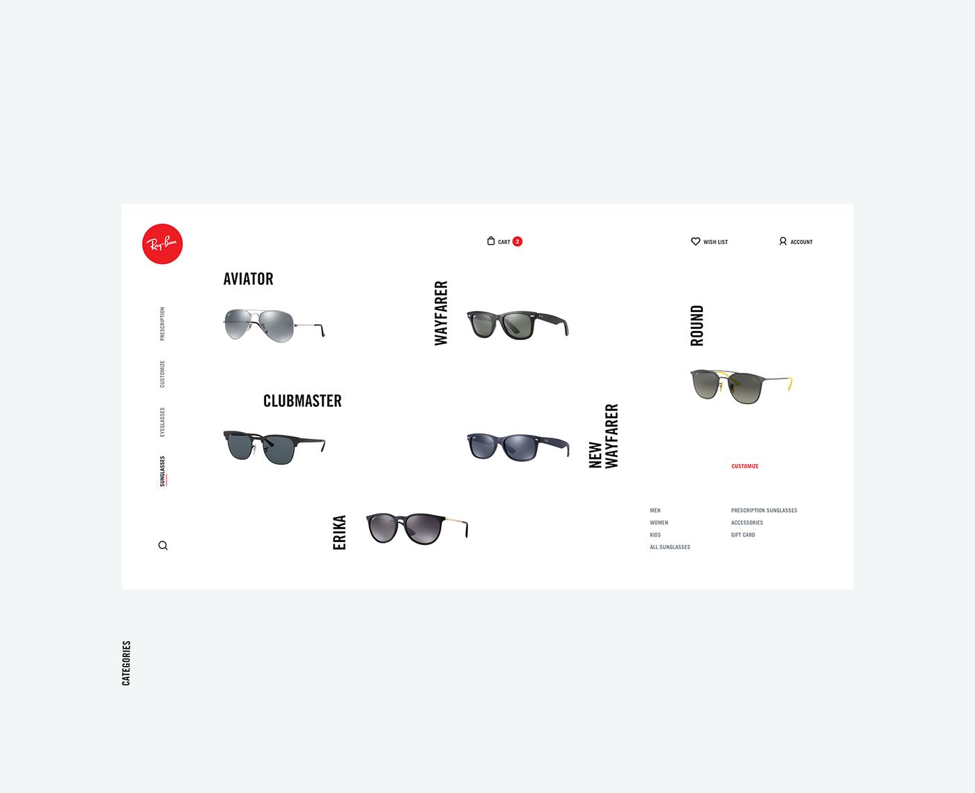 雷朋(Ray-Ban)眼镜概念网页设计