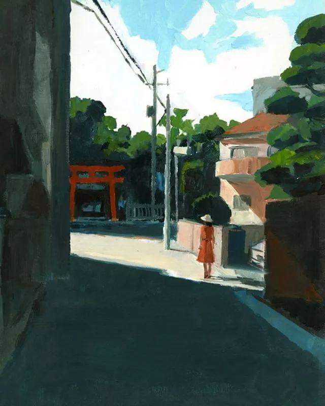 船津真琴(Makoto Funatsu)油画作品欣赏