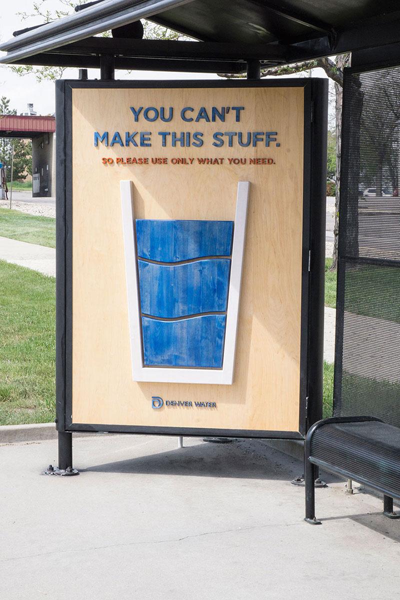 节约水资源户外公益广告设计
