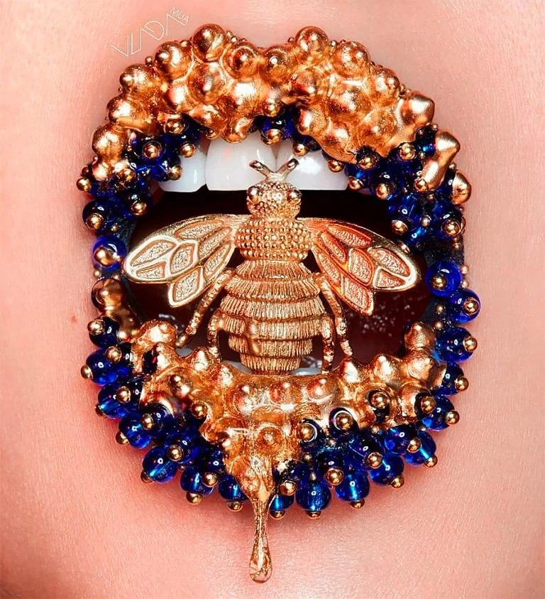 嘴唇就是画布:彩妆艺术家Vlada Haggerty嘴唇上的艺术