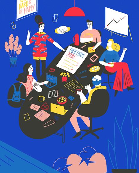 流畅的线条 轻松的画面:Elda Broglio插画作品欣赏