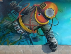 Chemis街头艺术作品