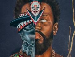神秘的民族风情:非洲加勒比风格人物肖像画
