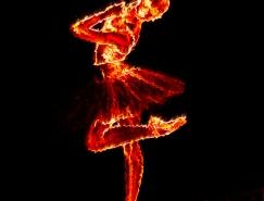 PS制作火焰燃燒的芭蕾舞者