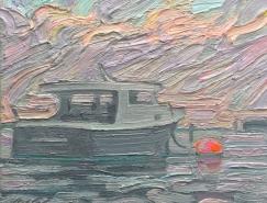 挥洒自如的笔触:Ken Faulks风景油画