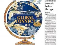 插画中国风:中国日报欧洲版版面,体育投注