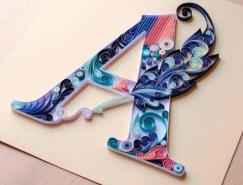 Anna Chiara Valentini色彩繽紛的紙藝文字設計
