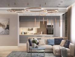 基輔120平米高雅時尚的現代住宅設計
