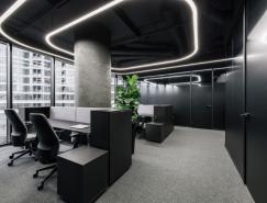 酷黑风格办公室空间皇冠新2网