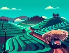 Ranganath Krishnamani:Suzuki汽车插画广告设计