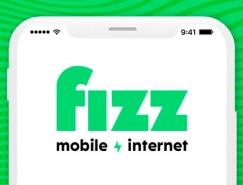 大胆的色彩 跳跃的图形:在线电信提供商Fizz品