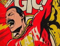 Butcher Billy: 皇后乐队主唱Freddie Mercury为主题创作的插画海报