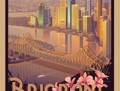 复古旅行插画风海报设计