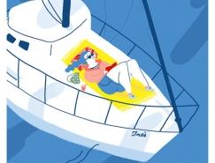 流畅的线条 轻松的画面:Elda Broglio插画澳门金沙网址欣赏