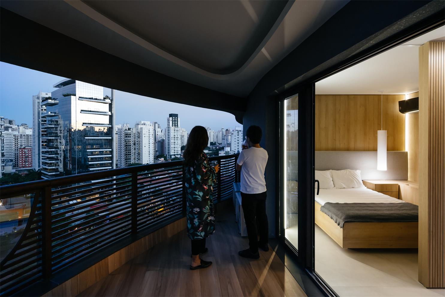 圣保罗一间42㎡开放式小公寓