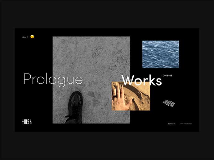 50个简约风黑白网页设计