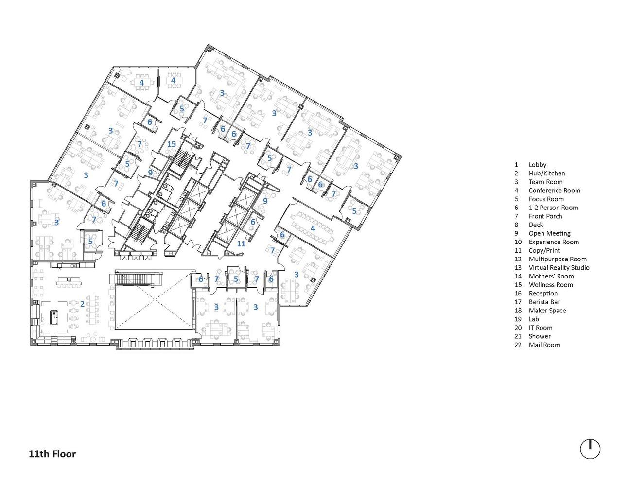 美国微软新英格兰研发中心办公空间设计