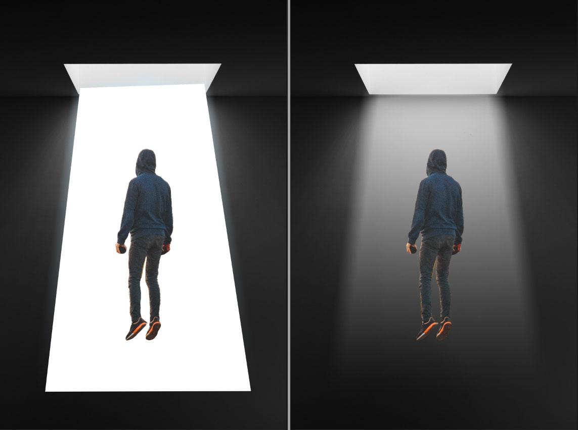 Photoshop合成空中漂浮的人物