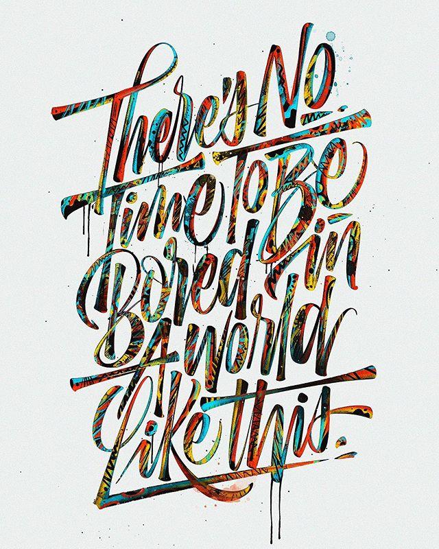 34款国外创意手写字体设计