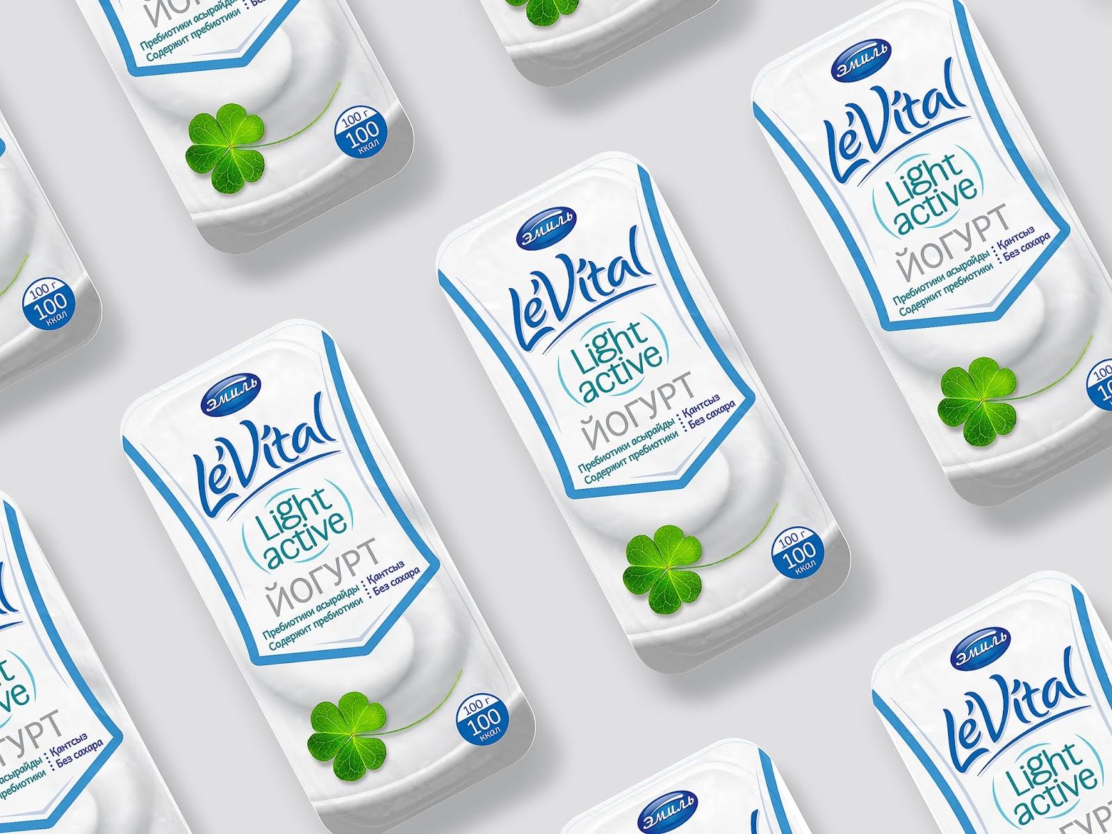LeVital低脂牛奶包装设计
