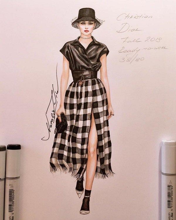 Natalia Zorin Liu手绘时尚人物插画作品