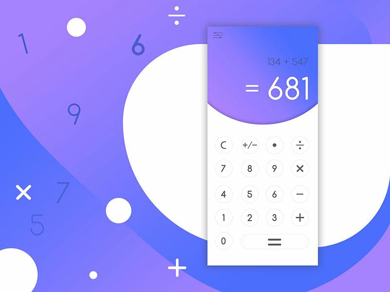 12款计算器UI界面设计