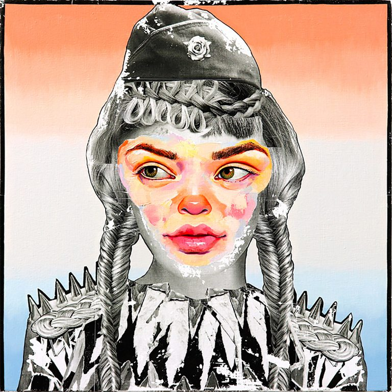 AM DeBrincat的分层混合媒体绘画作品