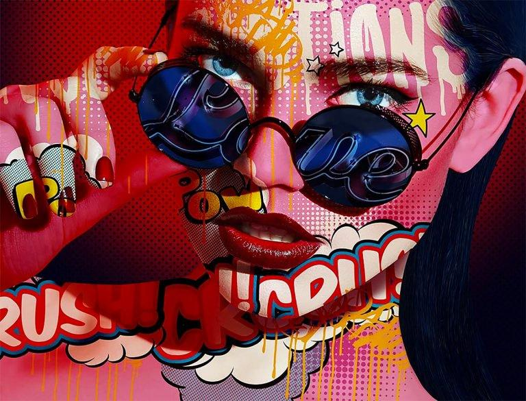 Monika Nowak:漫画和肖像结合的拼贴画设计