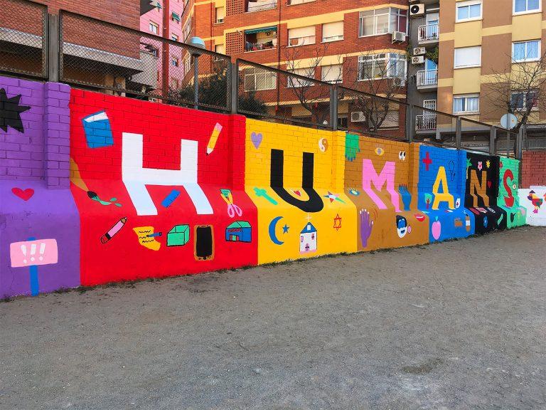 Emily Eldridge卡通风格街头壁画艺术作品