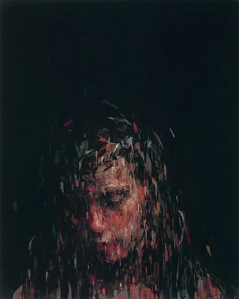 Kai Samuels-Davis富有表现力的抽象肖像画作品
