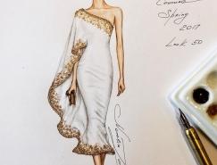 Natalia Zorin Liu手绘时�钌腥宋锊寤�作品