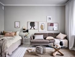 瑞典哥德堡36平米斯堪的納維亞風格小公寓