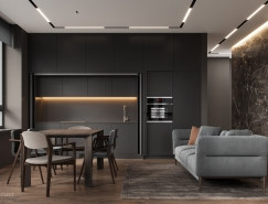 時尚主播的家 酷黑風格公寓設計