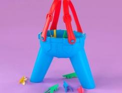 来自怀旧玩具的灵感:Noah Camp创作的3D字母