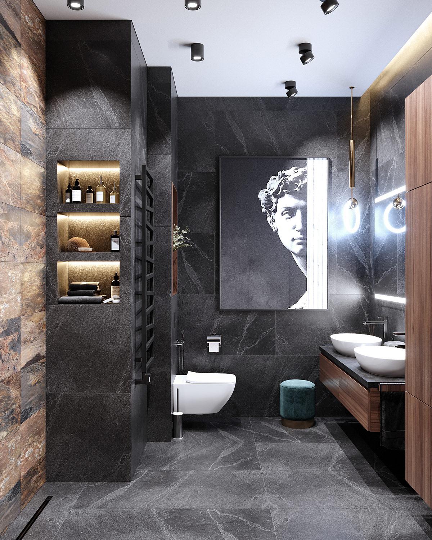 精致的深灰色 新古典主义风格家居装饰