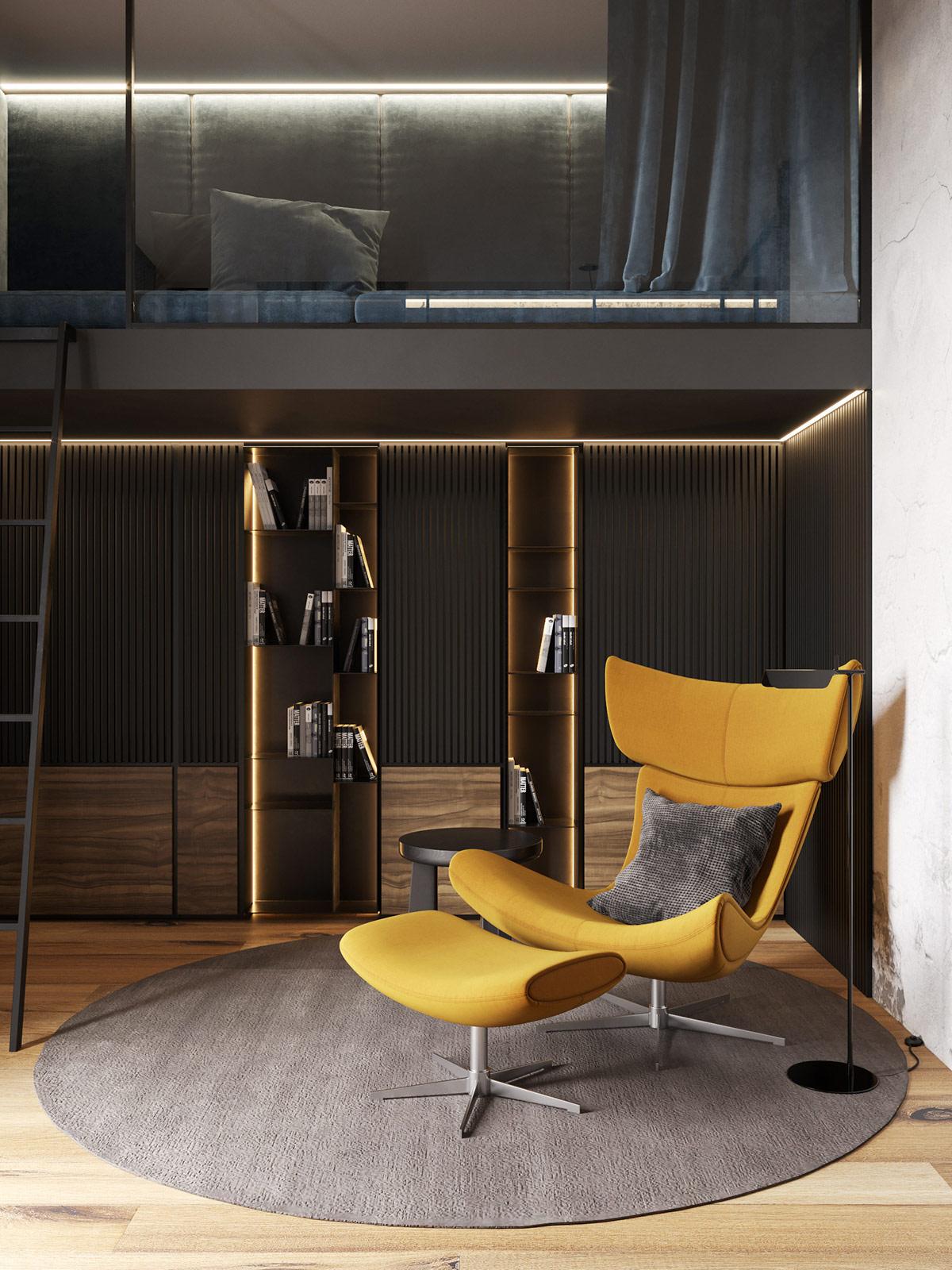 高级灰搭配工业风 打造简约舒适loft空间