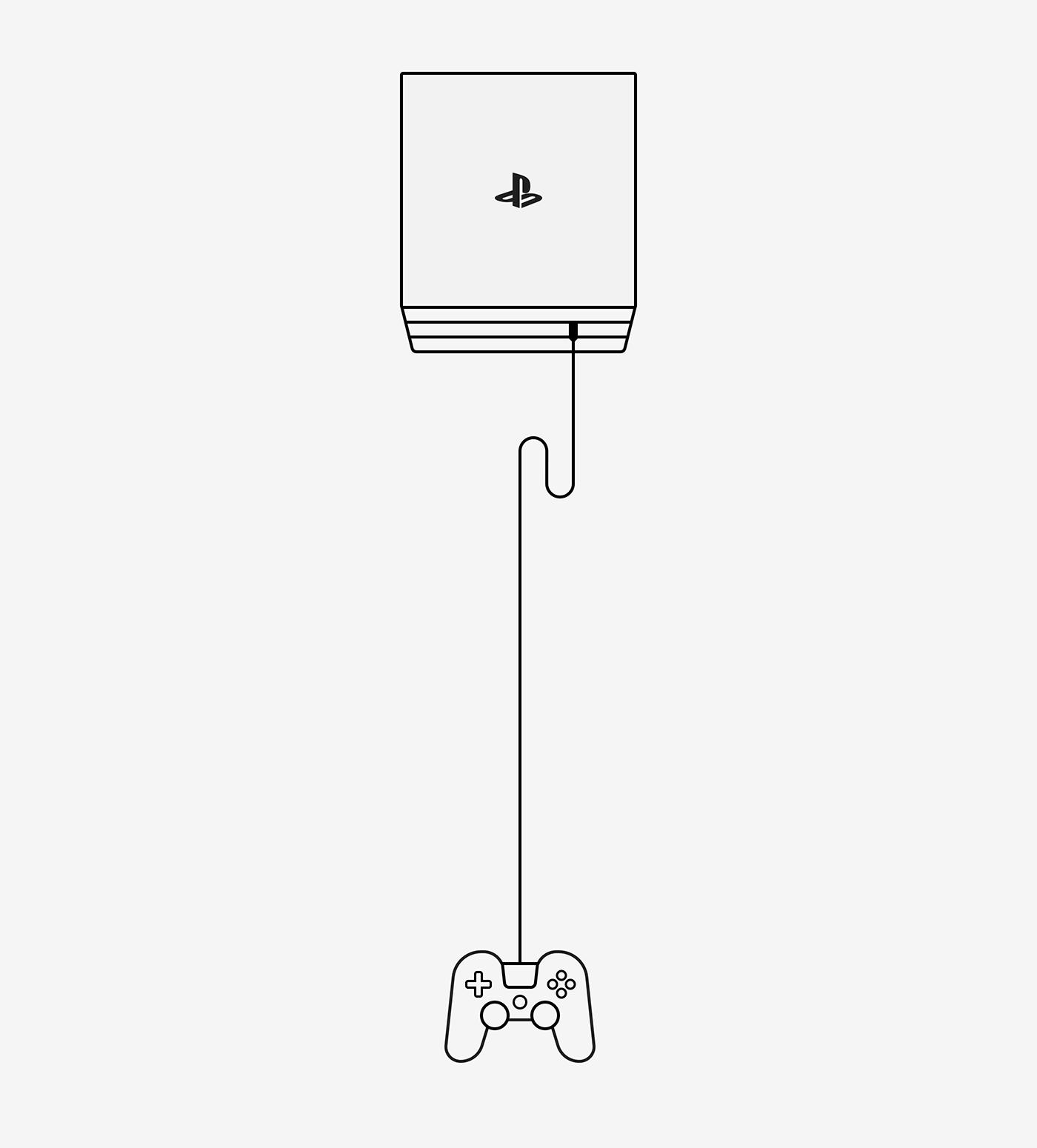 Playstation极简风格APP概念设计