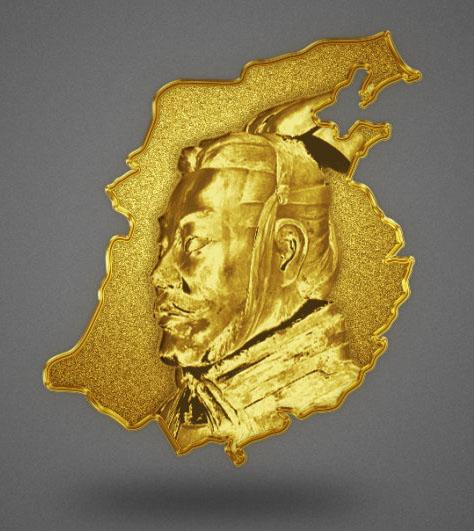 PS打造黄金铸造的徽章