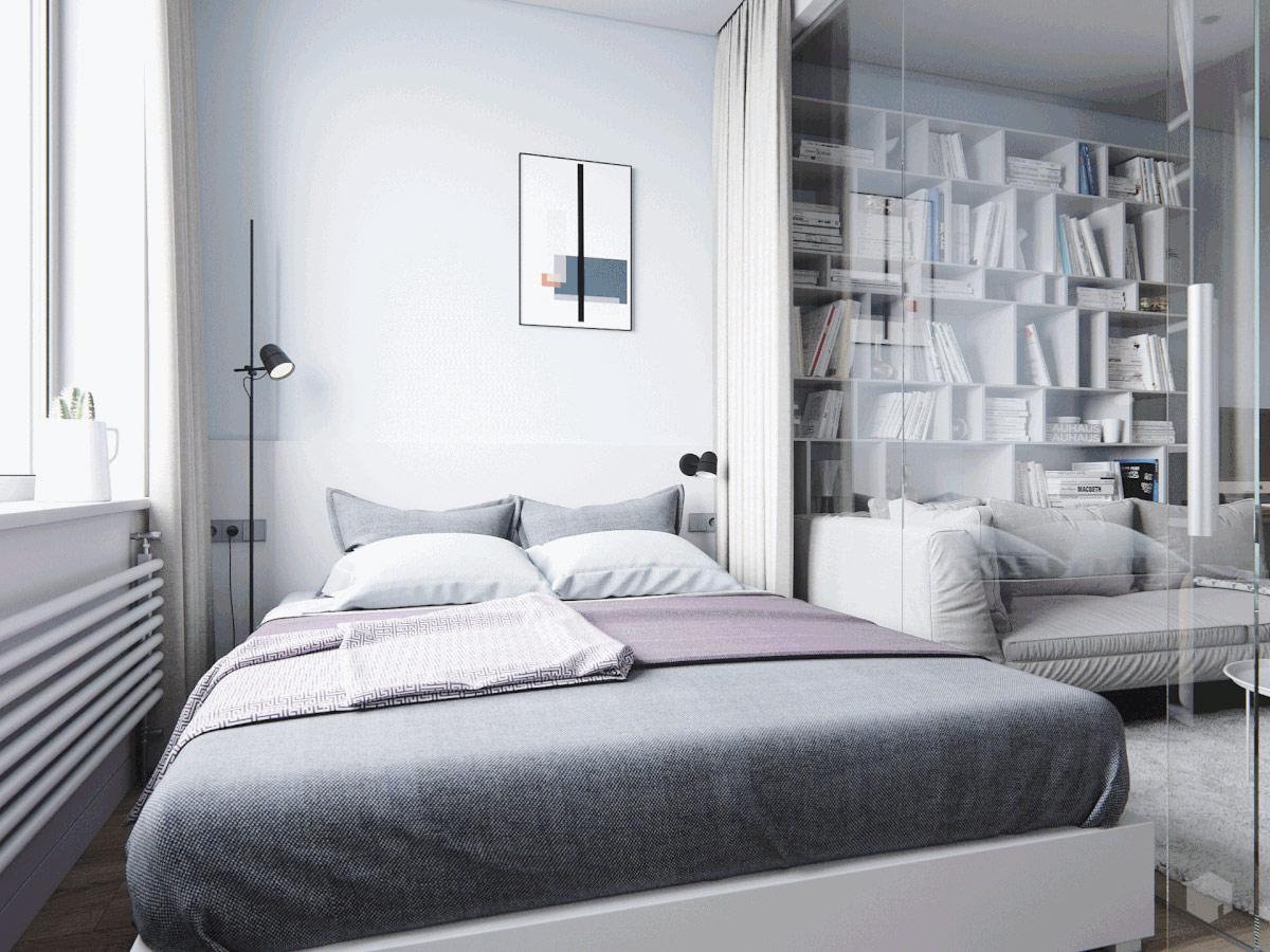 3个使用玻璃墙卧室的小公寓装饰设计