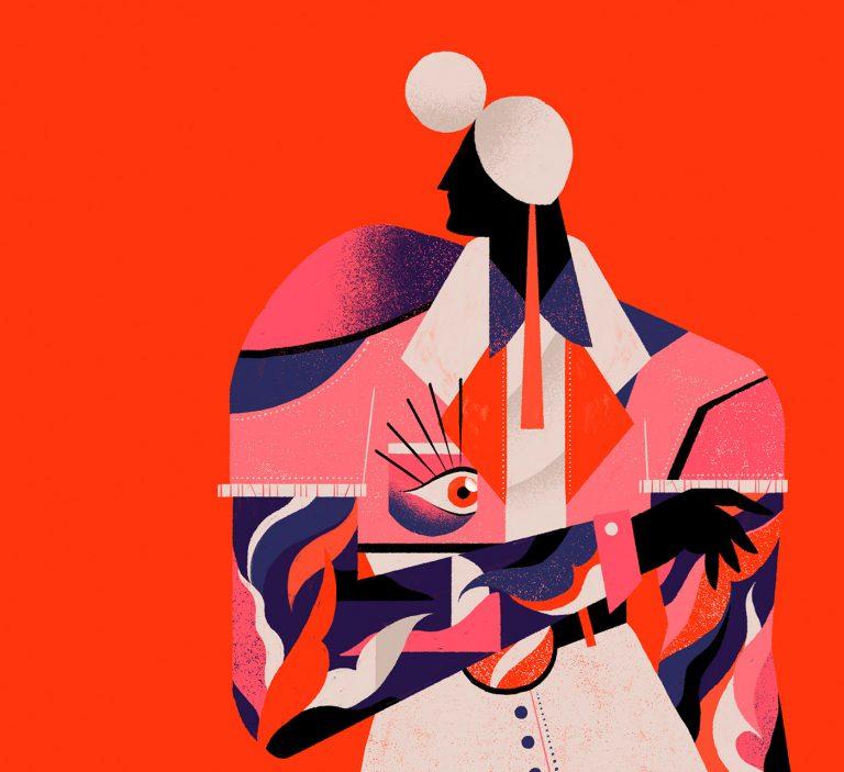 丰富的色彩和纹理:Willian Santiago抽象人物插画作品